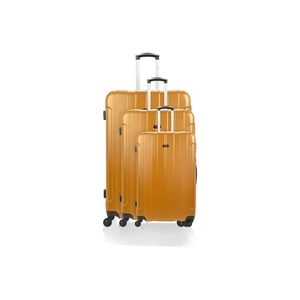 Sada 3 kufrov Roues Cadenas Orange, 105 l/72 l/40 l