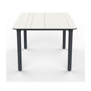 Sivo-biely záhradný stôl Resol NOA, 90x90cm