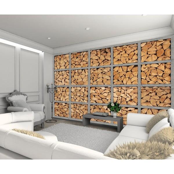 Veľkoformátová tapeta Drevená polená, 315x232 cm