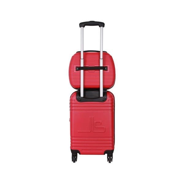 Kufor s príručnou taškou Case Jean Louis Scherrer Red
