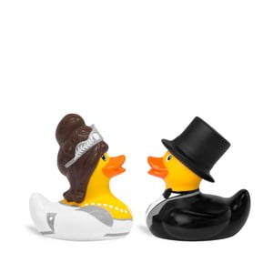 Kačička do vane Bud Ducks Mini Bride & Groom
