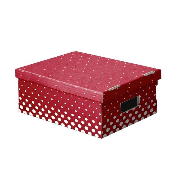 Sada 3 úložných boxov Ordinett New Red