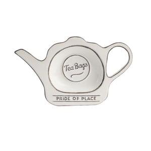 Keramický tanierik na čajové vrecúška PrideofPlace, biely