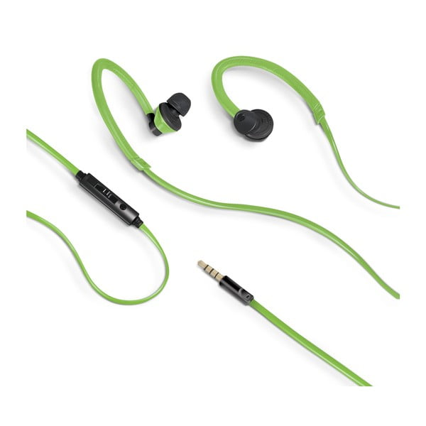 Športové slúchadlá CELLY s mikrofónom, zelené