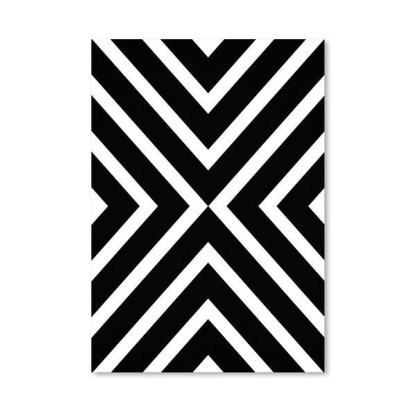 Plagát Geometric White Black