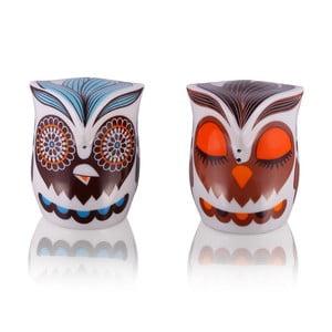 Soľnička a korenička Owl Hippie