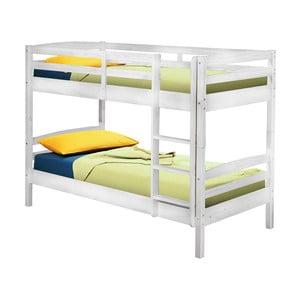 Biela poschodová posteľ 13Casa Ricky, 90 x 190 cm