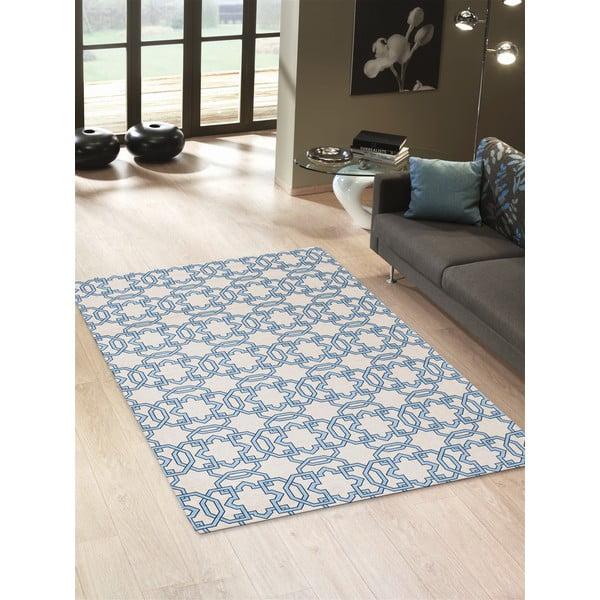 Vysokoodolný kuchynský koberec Tiles Blue, 60x150 cm