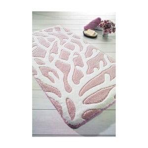 Ružová predložka do kúpeľne Confetti Bathmats Moss, 57x100cm