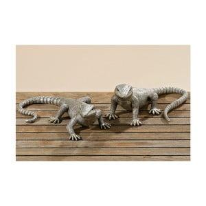 Sada 2 dekoratívnych sošiek Lizards