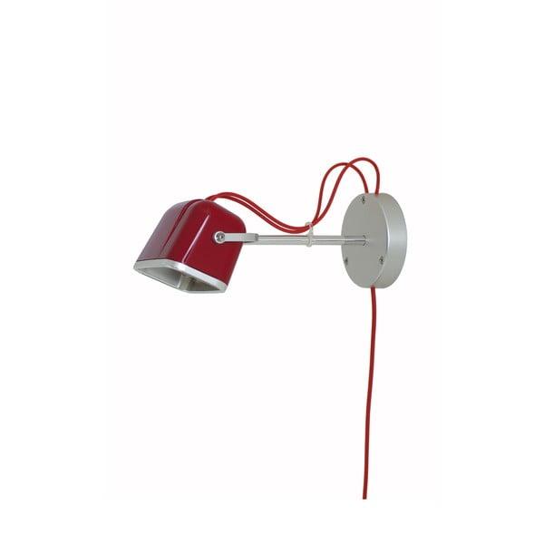 Nástenná lampa Mob, červená