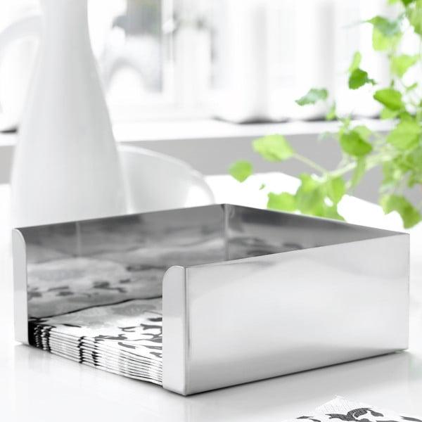 Antikoro box na obrúsky Steel Function, 21×21 cm