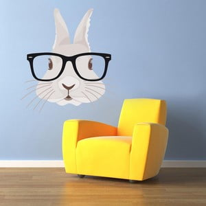 Samolepka na stenu Hipster Rabbit