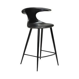 Čierna barová stolička z eko kože DAN–FORM Denmark Flair