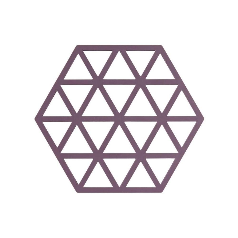Fialová silikónová podložka pod horúce nádoby Zone Triangles