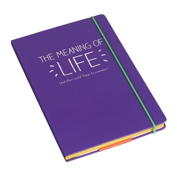 Zápisník A5 Happy Jackson  Meaning Of Life