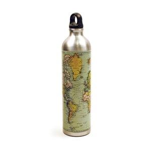 Fľaša na vodu so zátkou Gift Republic Map