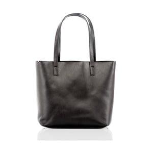 Čierna kožená kabelka Glorious Black Irma