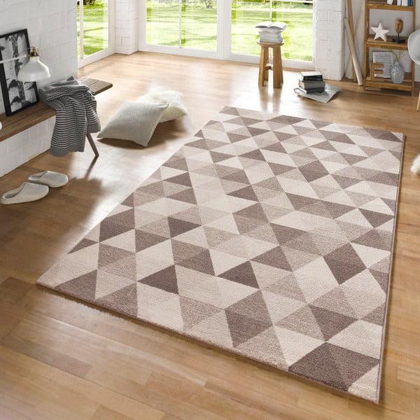 Béžový koberec Schöngeist & Petersen Diamond Triangle, 80 x 150 cm