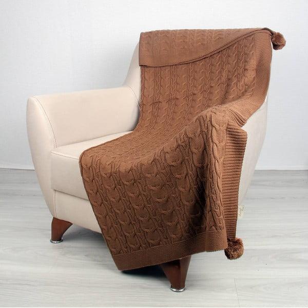 Hnedosivá deka Tata, 170 x 130 cm