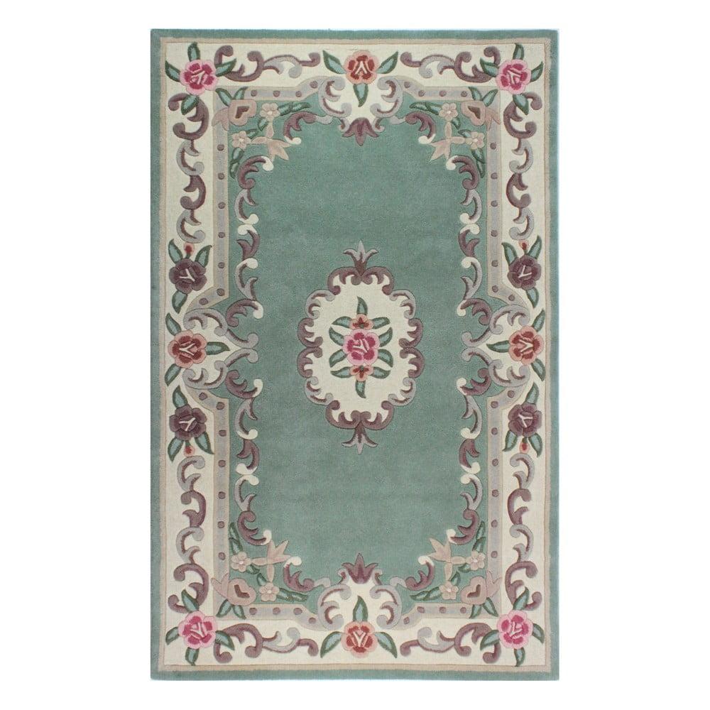 Zelený vlnený koberec Flair Rugs Aubusson, 120 × 180 cm