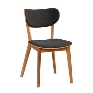Sada 2 sivých stoličiek z dubového dreva Folke Cato