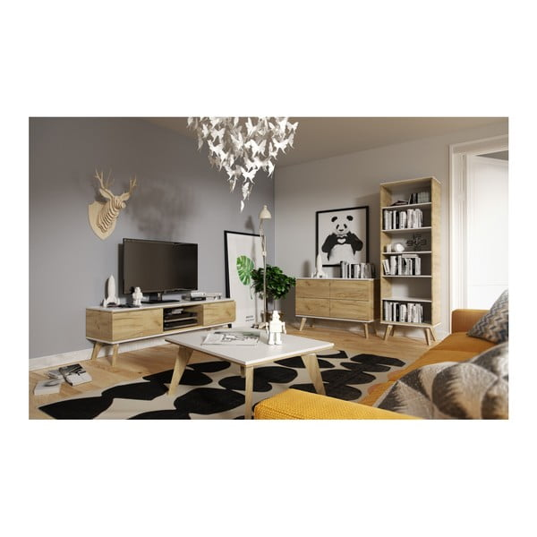 TV komoda v dekore dreva SKANDICA Jorgen