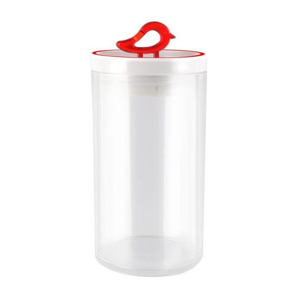 Červená dóza Vialli Design Livio, 1,2 l
