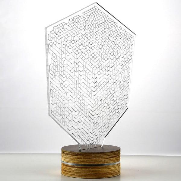 3D stolová lampa Squares