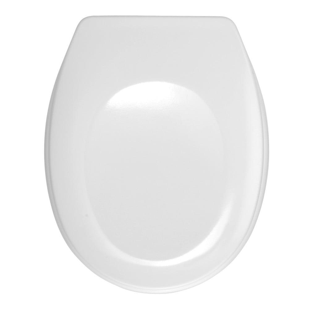 Biele WC sedadlo Wenko Bergamo, 44,4 × 37,3 cm