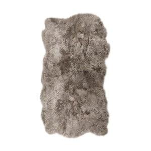 Béžovosivý kožušinový koberec s krátkým vlasom Nardo, 170 x 110 cm
