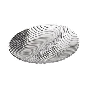 Sklenený tanier v tvare listu Unimasa, 24,8×22,8 cm
