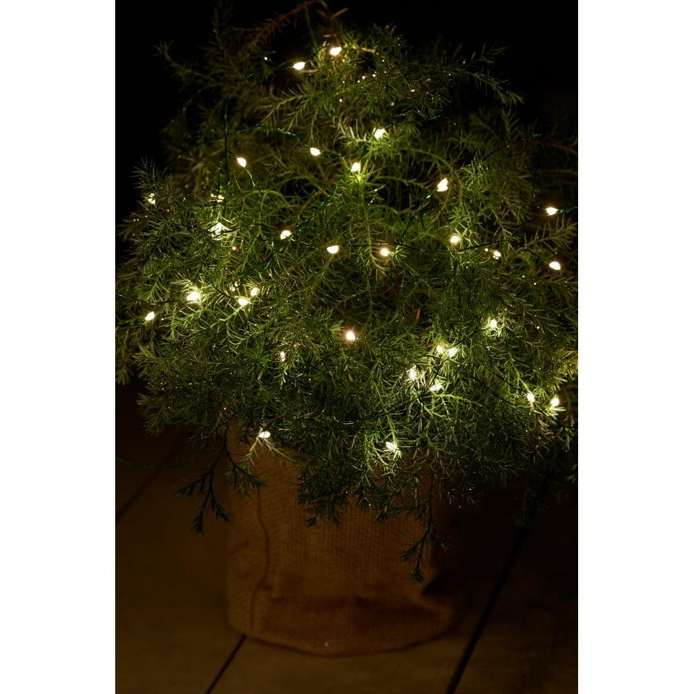 Svetelná LED reťaz Sirius Knirke Green, dĺžka 3,9 m