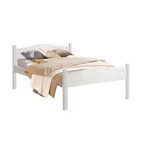 Biela posteľ z masívneho borovicového dreva Støraa Barney, 140 x 200 cm