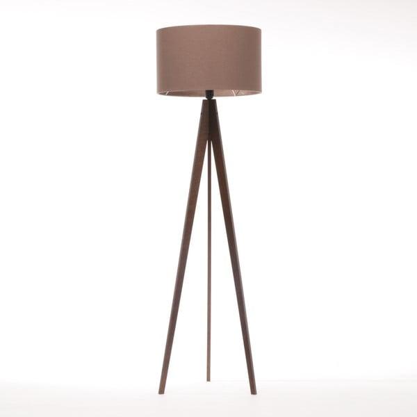 Hnedá stojacia lampa 4room Artist, hnedá lakovaná breza, 150 cm