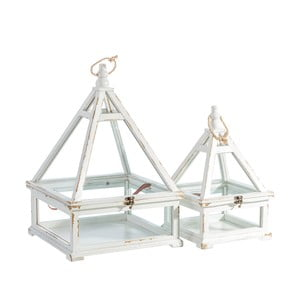 Sada 2 dekoratívnych boxov Ixia Francine