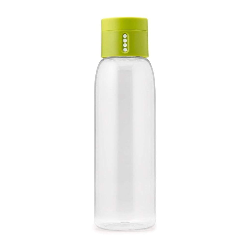 Zelená fľaša s počítadlom Joseph Joseph Dot, 600 ml