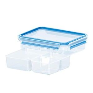 Krabička na potraviny Clip&Close + 3 priehradky, 1.2 l