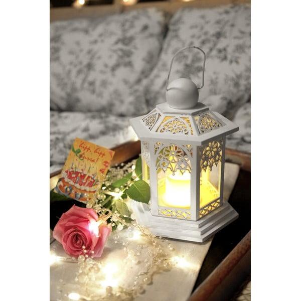 LED lampáš Christmas 20 cm, krémová