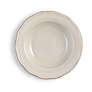Stredne veľký krémový tanier Brandani