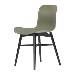Zelená jedálenská stolička NORR11 Langue Dark