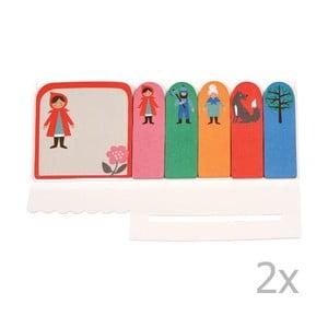 Sada 2 lepiacich štítkov Rex London Red Riding Hood