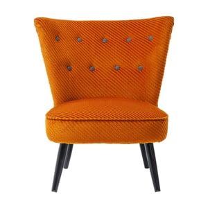 Oranžové kreslo Kare Design Malmö