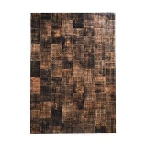 Hnedý koberec z pravej kože Fuhrhome Cairo, 170×240cm
