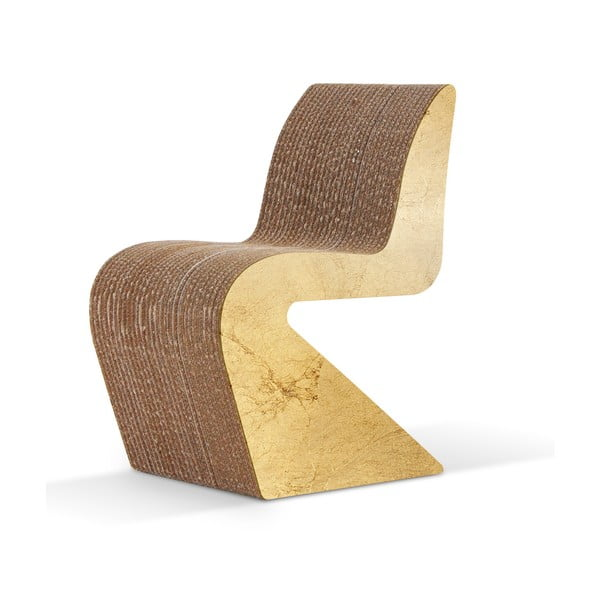 Kartónová stolička Amanda Gold