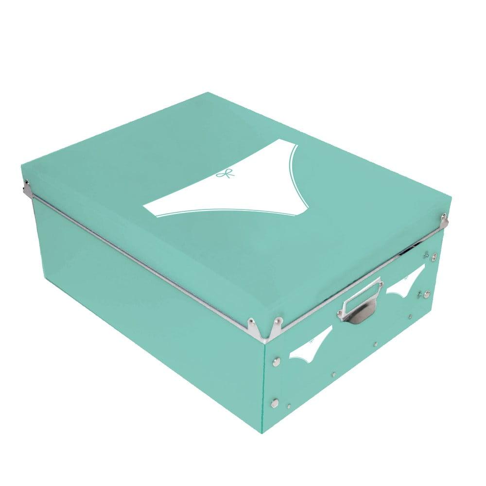 46d8ff6ae Úložný box na dámske spodné prádlo Turquoise Pict, 34,5 x 26 cm   Bonami