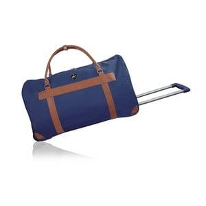 Modrá cestovná taška na kolieskách GENTLEMAN FARMER Oslo, 40 l