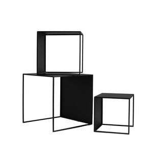 Sada 3 čiernych odkladacích stolíkov Custom Form 2Wall