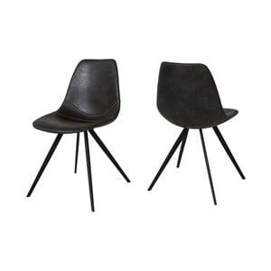 Čierna jedálenská stolička Canett Liva