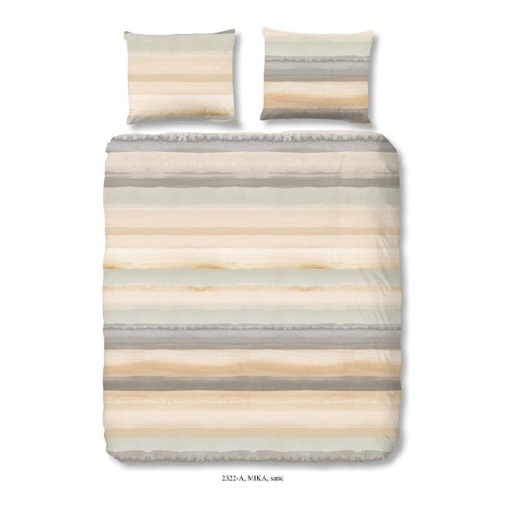 Bavlnené obliečky na dvojlôžko Good Morning Sand, 200 × 200 cm